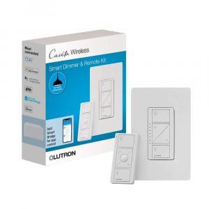 LUTRON Caseta Smart Dimmer Kit P-PKG1W-WH