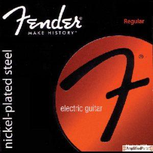 FENDER Super 250 Guitar Strings  Nickel Plated Steel  Ball End  250L Gauges .009-.042  Set of 6