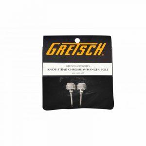 GRETSCH Knob Strap, GRETSCH Chrome w/Bolt (2)