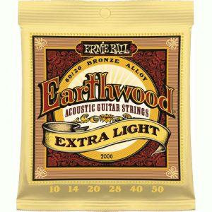 ERNIE BALL P02006 EARTHWOOD ACOUSTIC GUITAR STRING EXTRA LIGHT