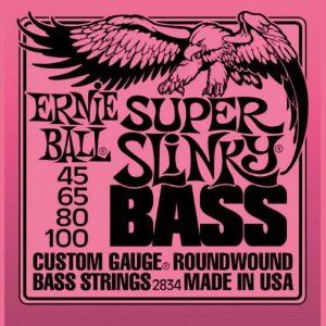 ERNIE BALL P02834 SUPER SLINKY BASS NICKEL WOUND