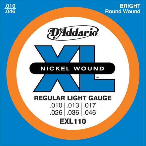 DADDARIO EXL110 Nickel Wound  Regular Light  10-46