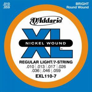 DADDARIO EXL110-7 Nickel Wound, 7-String, Regular Light, 10-59