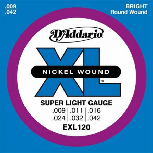 DADDARIO EXL120 Nickel Wound  Super Light  9-42