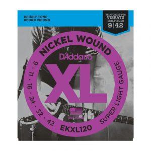 DADDARIO EKXL120 Nickel Wound, Super Light, 9-42