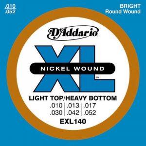 DADDARIO EXL140 Nickel Wound, Light Top, 10-52