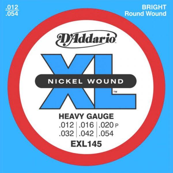 DADDARIO EXL145 Nickel Wound, Heavy, Plain 3rd, 12-54