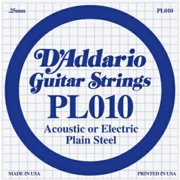 DADDARIO Daddario PL010 Single Plain Steel .009 Acoustic/Electric String