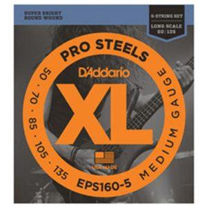 DADDARIO EPS160-5 XL ProSteels Round Wound