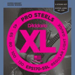 DADDARIO EPS170-5SL XL ProSteels Round Wound