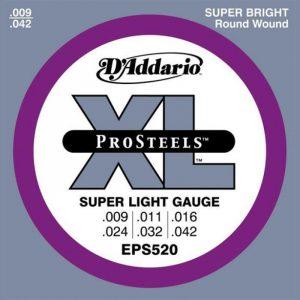 DADDARIO EPS520 ProSteels  Super Light  9-42