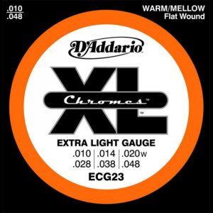 DADDARIO ECG23 Chromes Flat Wound Extra Light  10-48