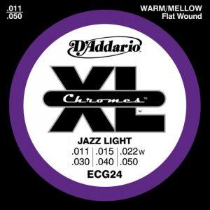 DADDARIO ECG24 Chromes Flat Wound, Jazz Light, 11-50