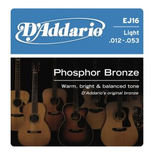 DADDARIO EJ16 Phosphor Bronze  Light  12-53