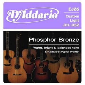 DADDARIO EJ26 Phosphor Bronze  Custom Light  11-52