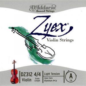 DADDARIO Zyex Composite Violin Strings DZ312