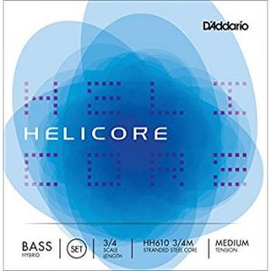 DADDARIO H610 3/4M HELICORE ORCH BASS SET 3/4 MED