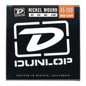 DUNLOP DBN45100 BASS-NKL MED LT-4/SET