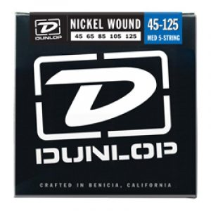 DUNLOP DBN45125 BASS-NKL MED-5/SET