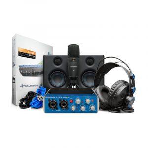 PRESONUS Interfase de audio AudioBox USB 96 + Audifonos HD7 + Microfono Condensador M7 + Software Studio One 3 Artist + Eris E3.5